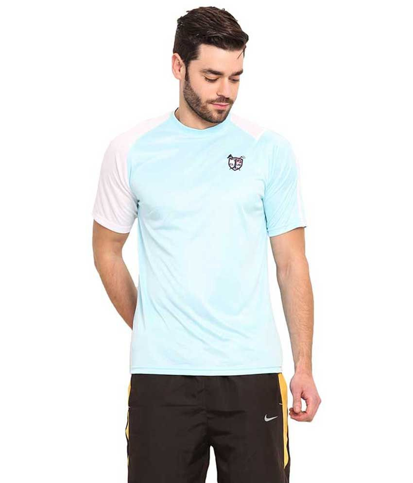 Mode Vetements Turquoise Round T Shirts
