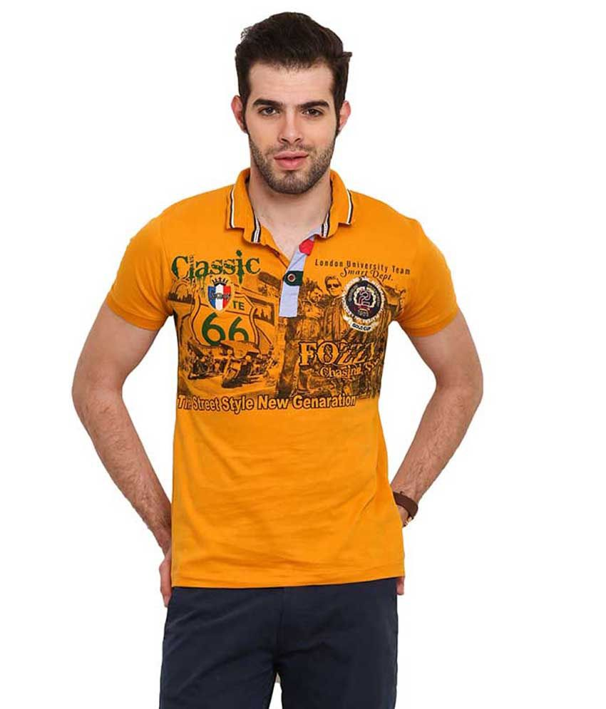 Mode Vetements Yellow Hooded T Shirts