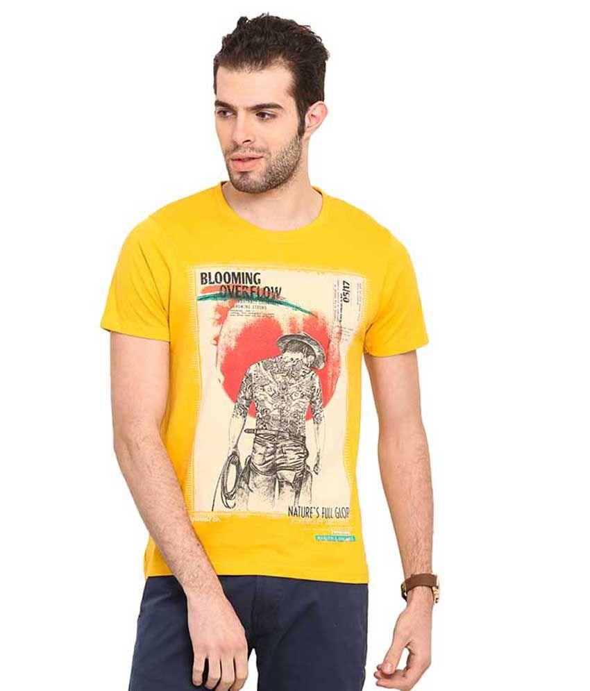 Mode Vetements Yellow Round T Shirts