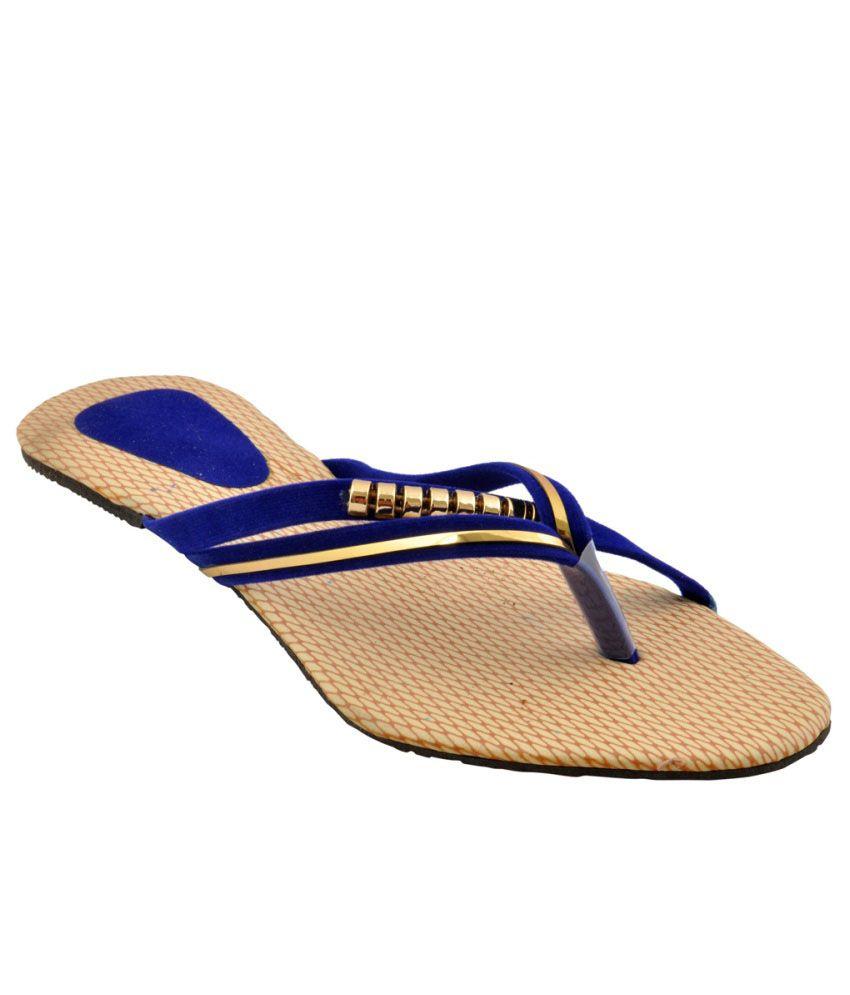 Bootwale Blue Flat Slip-on & Sandal