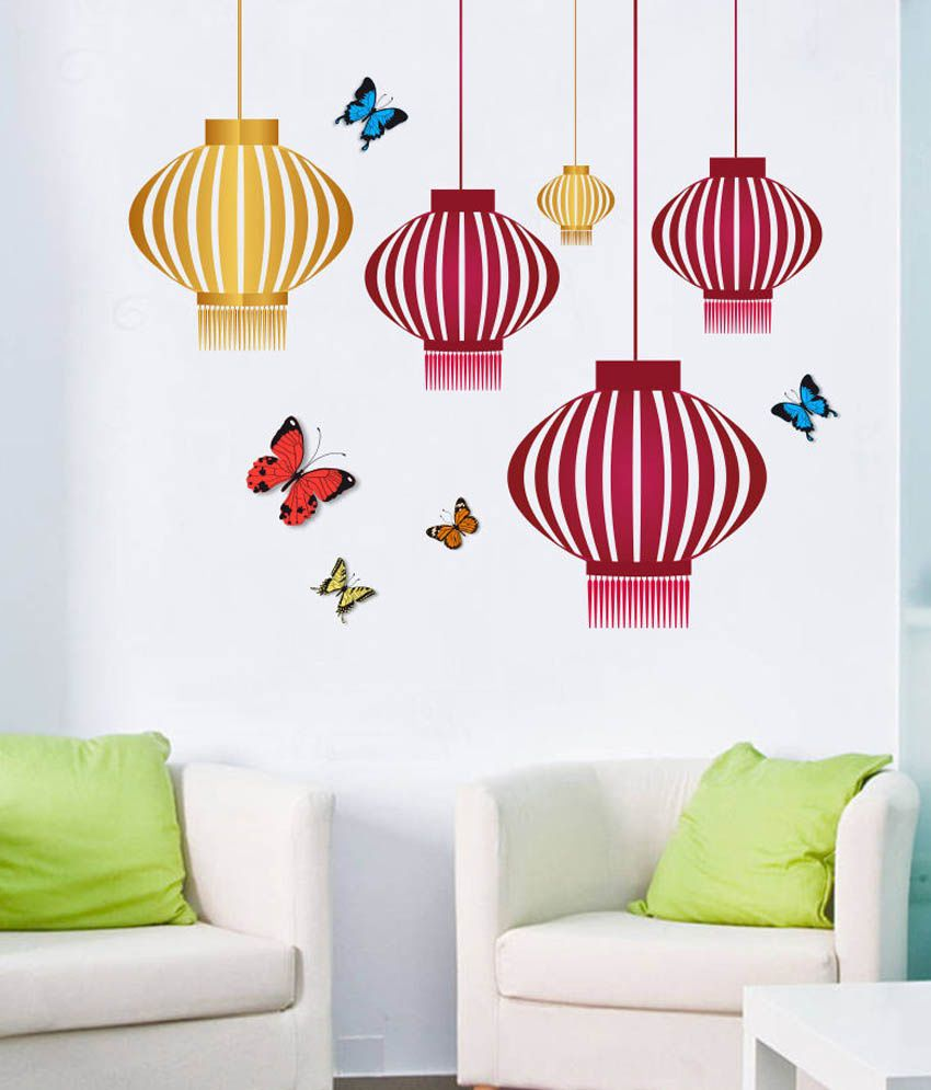Impression wall hanging design printed vinyl wall sticker buy impression wall hanging design printed vinyl wall sticker online at best prices in india on