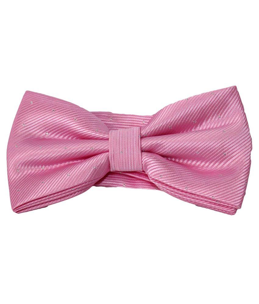 Uspa.polo Pink Silk Casual Thin Tie for Men