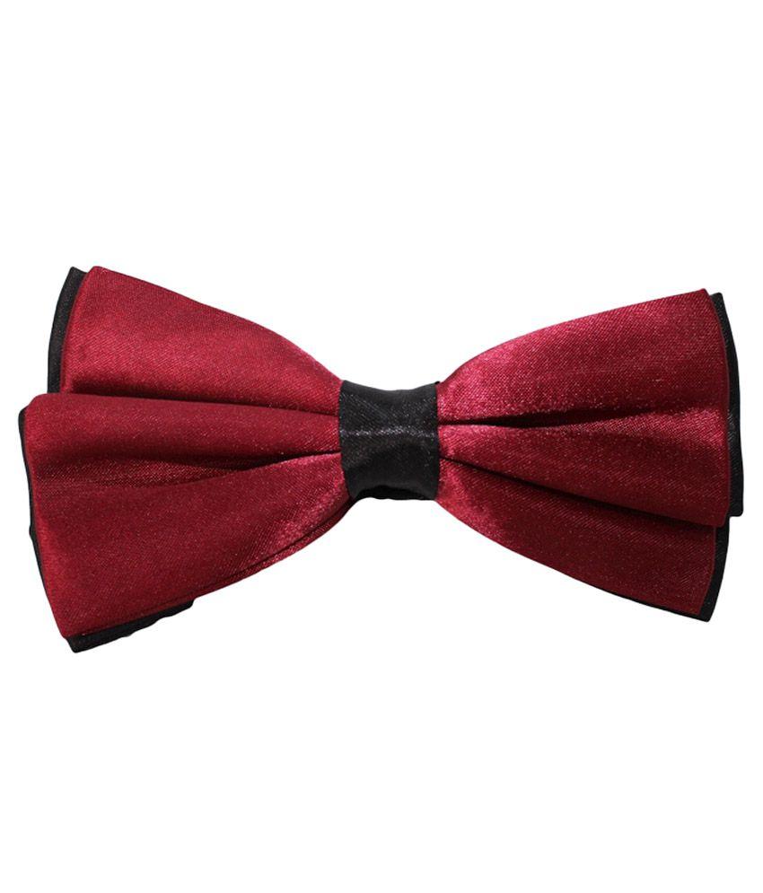 Uspa.polo Red Silk Casual Thin Tie for Men