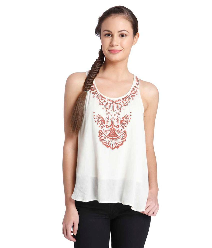 4c0ee6f9d02 Only White Sleeveless Top - Buy Only White Sleeveless Top Online at Best  Prices in India on Snapdeal