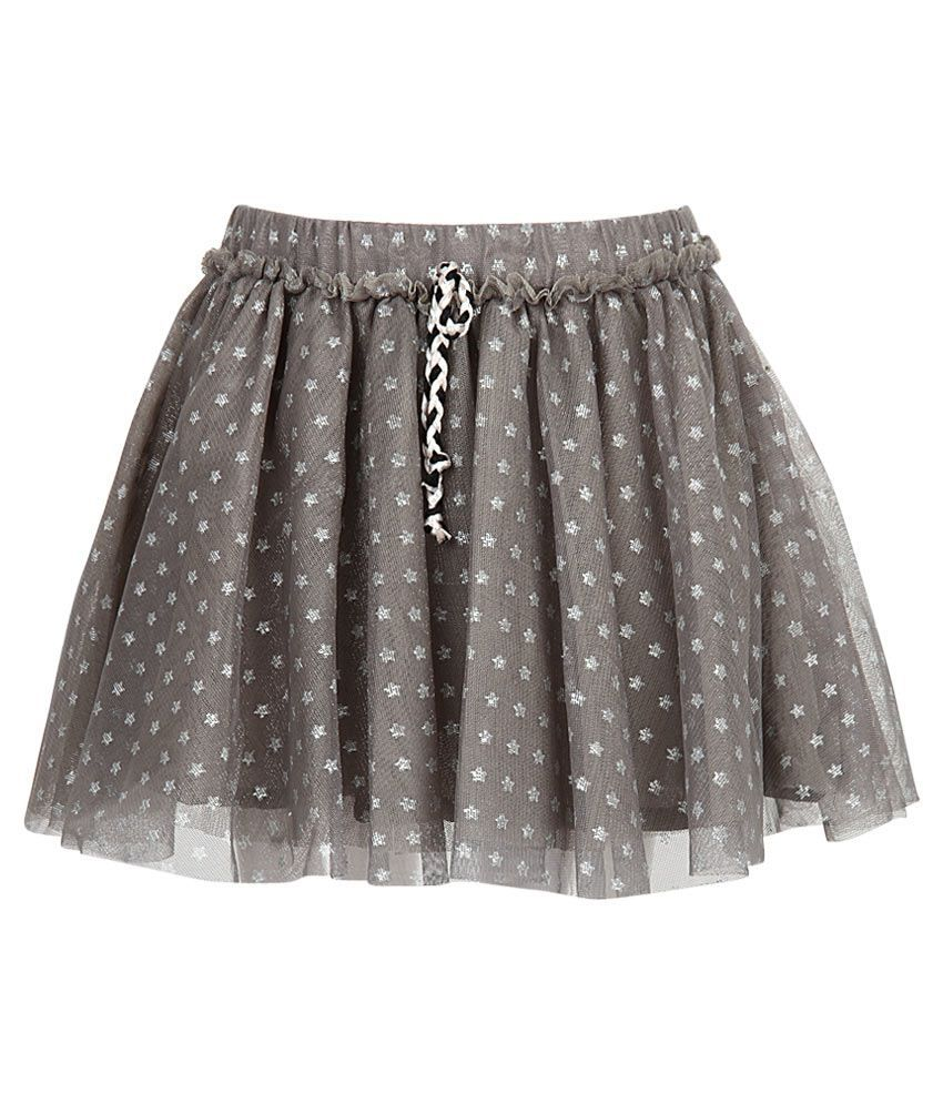 Stop by Shoppers Stop Gray Star Print Net Skirt