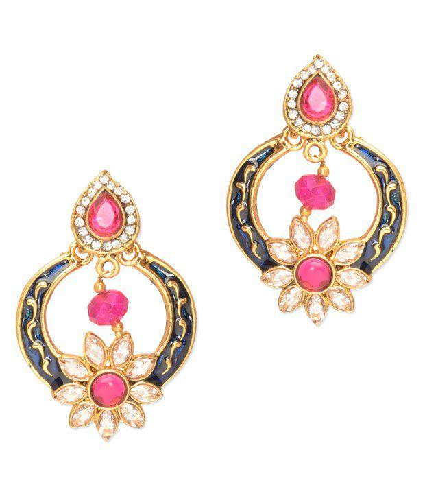 Royal Bling Multicolour Alloy Designer Earrings