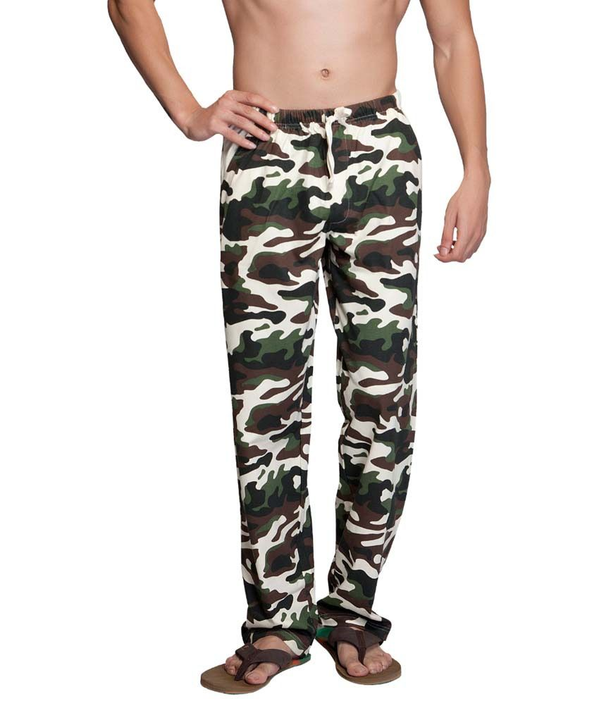 Clifton Fitness Men's Army Track Pant -Off White
