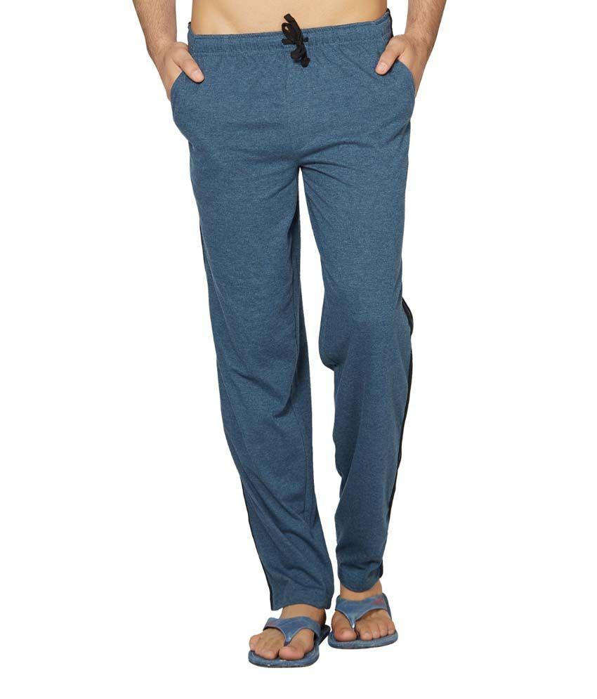Clifton Fitness Men's Coloured Track Pants -Navy Melange