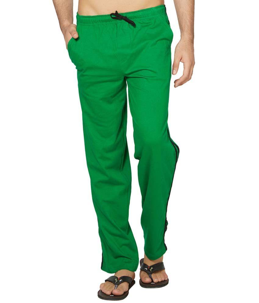 Clifton Fitness Men's Coloured Track Pants -Dark Green