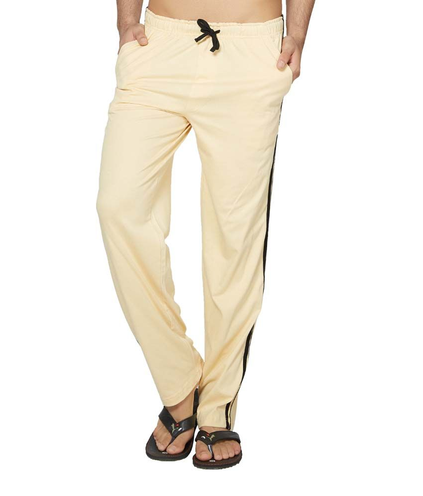 Clifton Fitness Men's Coloured Track Pants -Off White