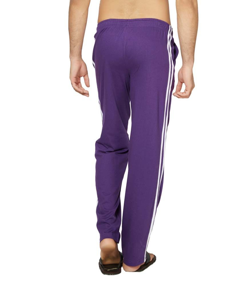 Clifton Fitness Men's Coloured Track Pants -Purple