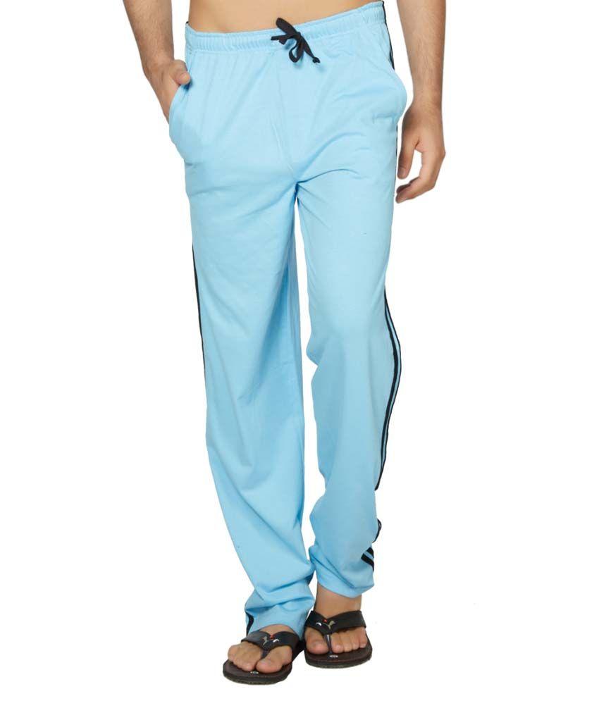 Clifton Fitness Men's Coloured Track Pants -Light Blue