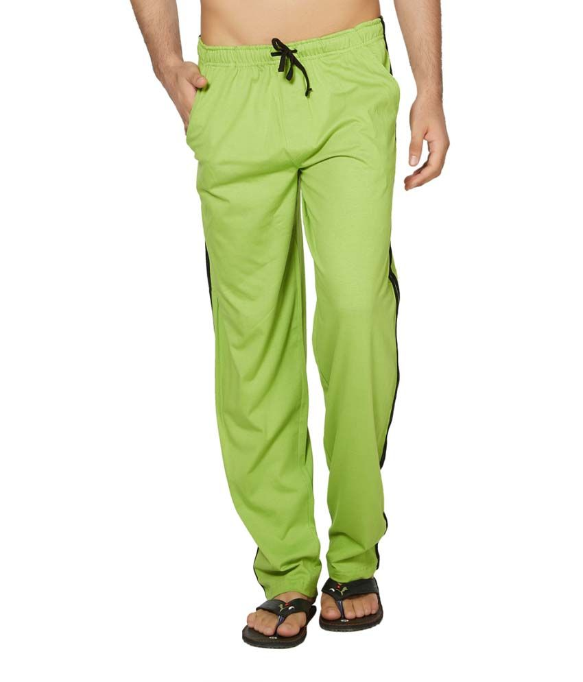 Clifton Fitness Men's Coloured Track Pants -Parrot Green