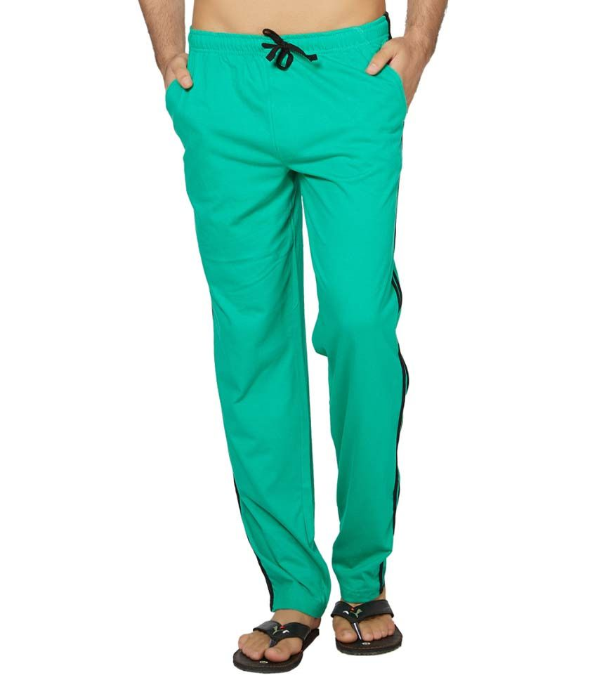 Clifton Fitness Men's Coloured Track Pants -Stump Green