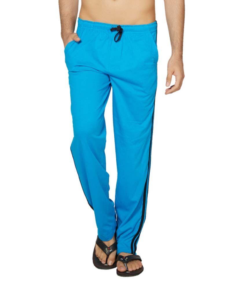 Clifton Fitness Men's Coloured Track Pants -Dark Blue