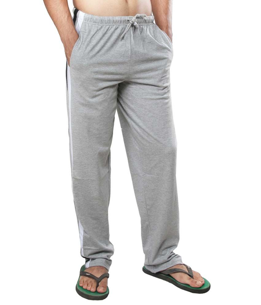 Clifton Fitness Men's Track Pants -Grey Melange