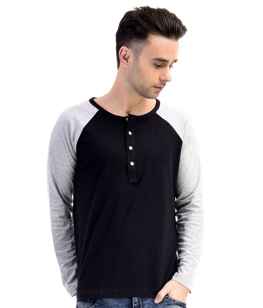 Fabstone Collection Black Cotton T- Shirt