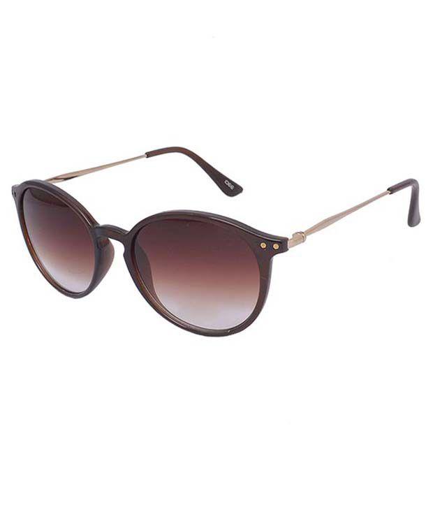 Idee Brown Round Sunglasses
