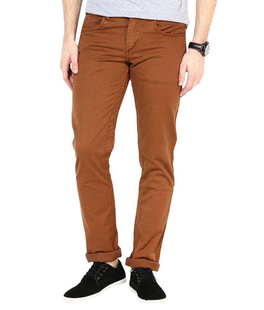 3 Concept Brown Slim Fit Jeans