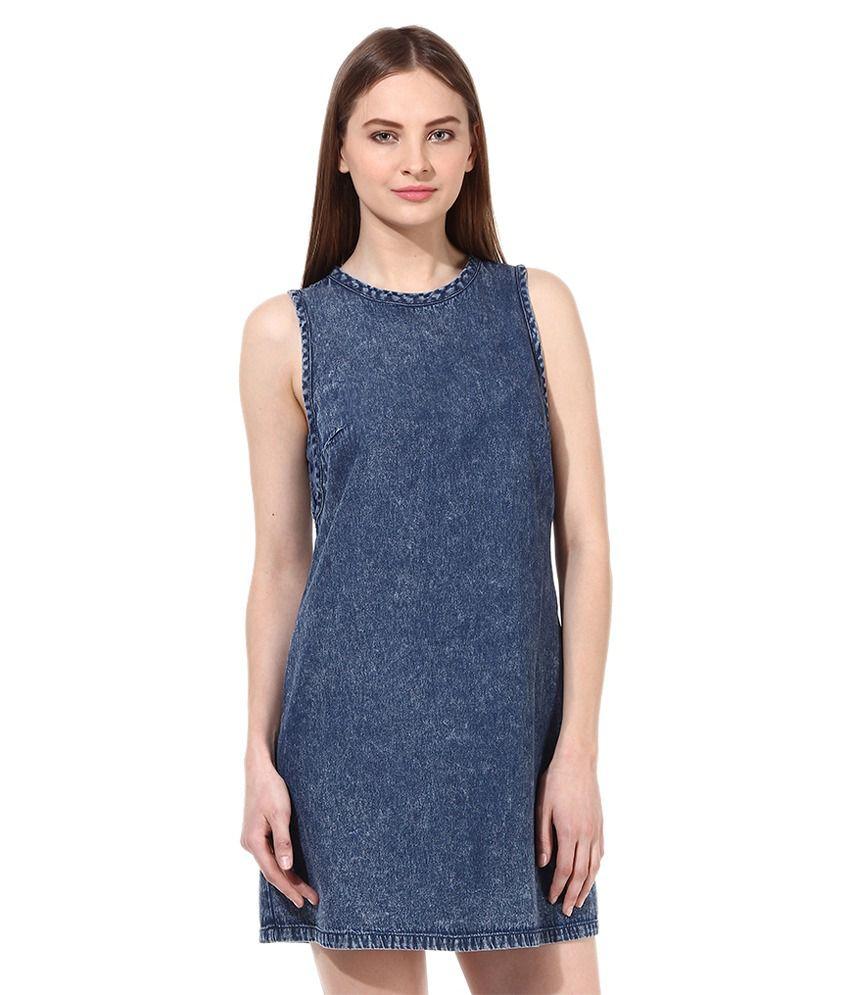 Oxolloxo Blue Cotton Dresses