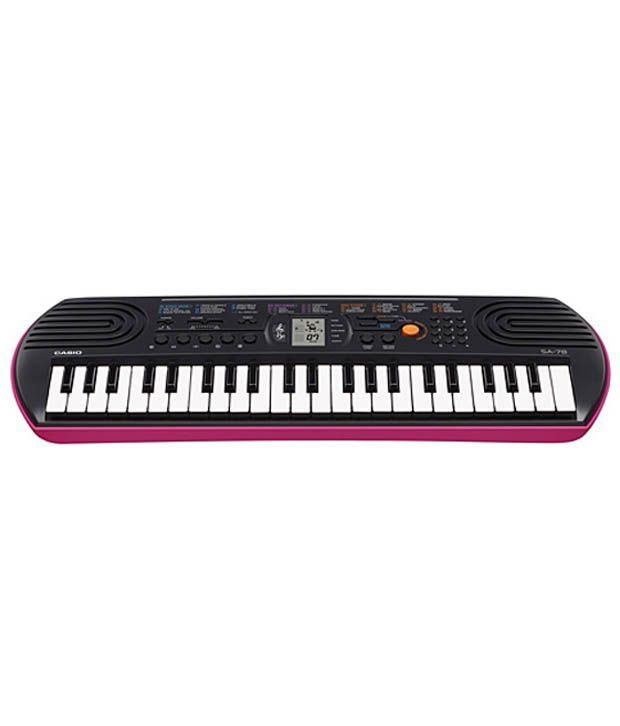 Casio SA78 44-Keys Portable Keyboard With Adapter