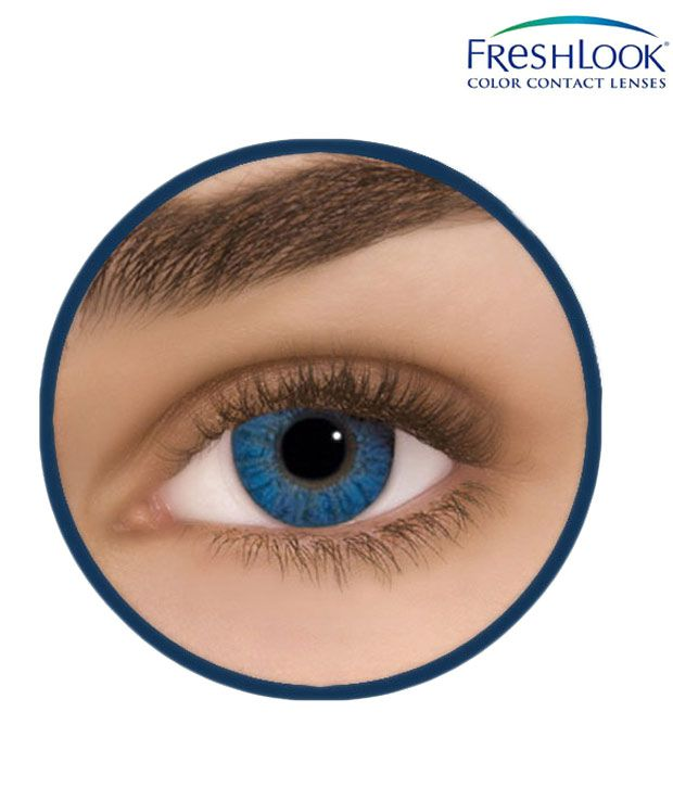 Freshlook Brilliant Blue Coloured Contact Lenses 2 Lens Pack
