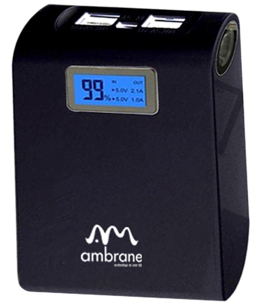 Ambrane P-1000 mAH 10400 Micro-B USB Power Bank
