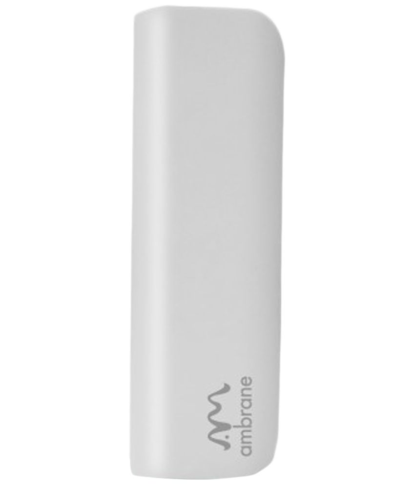 Ambrane White P-201 2200 mAh Micro-B USB Power Bank