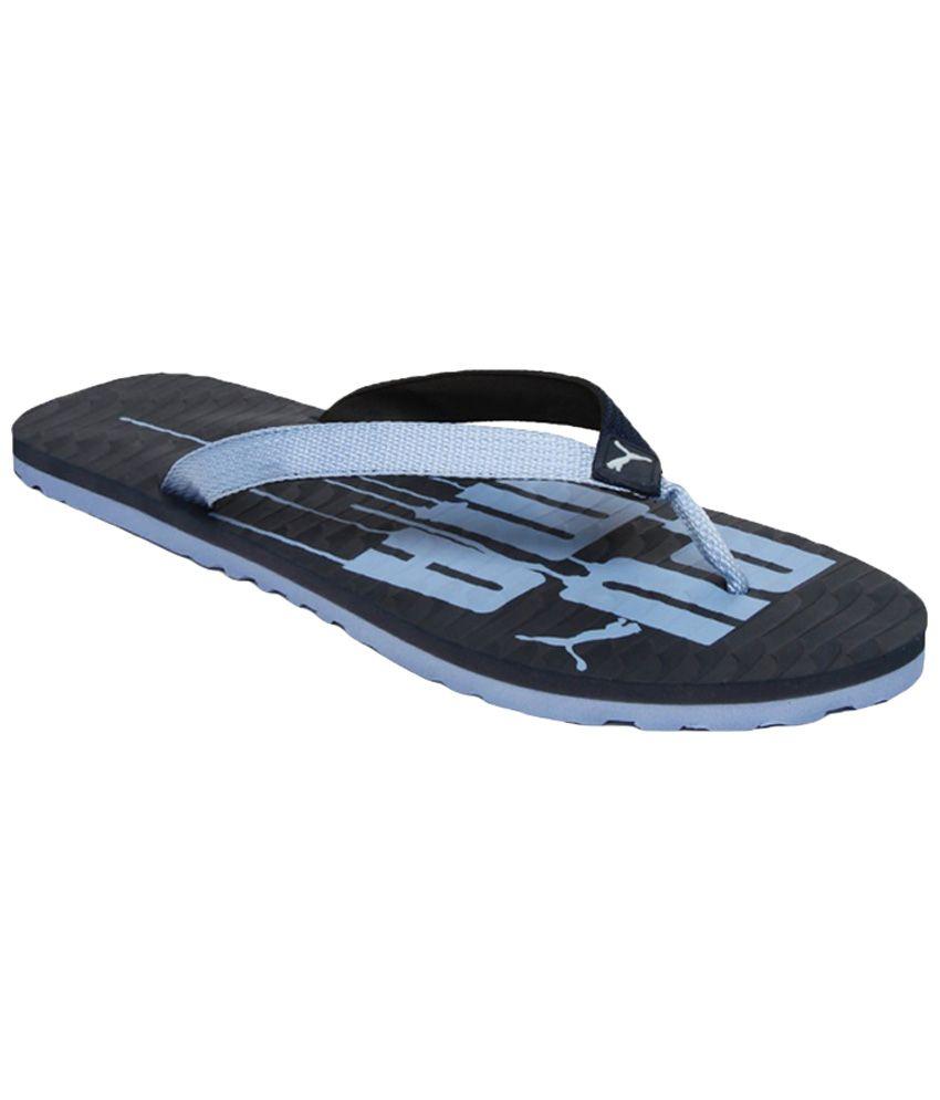 884c6ad45 Puma Miami V Black Flip Flops Price in India- Buy Puma Miami V Black Flip  Flops Online at Snapdeal