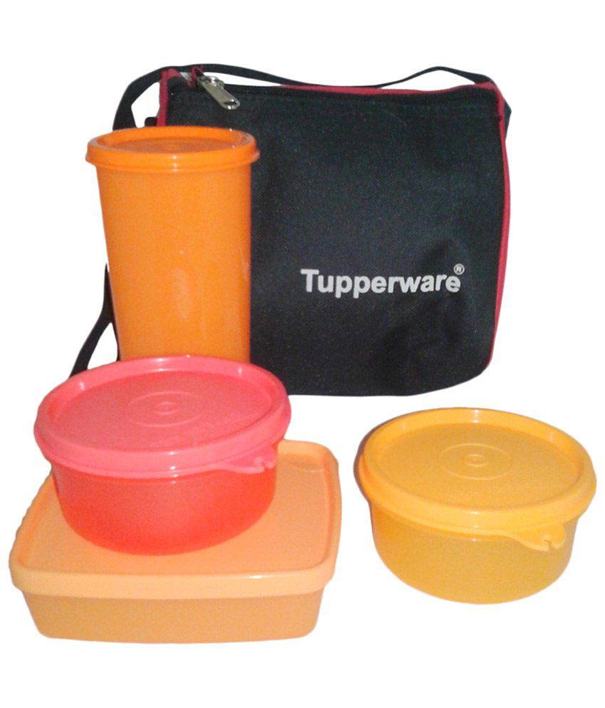 tupperware 3 container lunch box with tumbler insulated bag buy online at best price in india. Black Bedroom Furniture Sets. Home Design Ideas