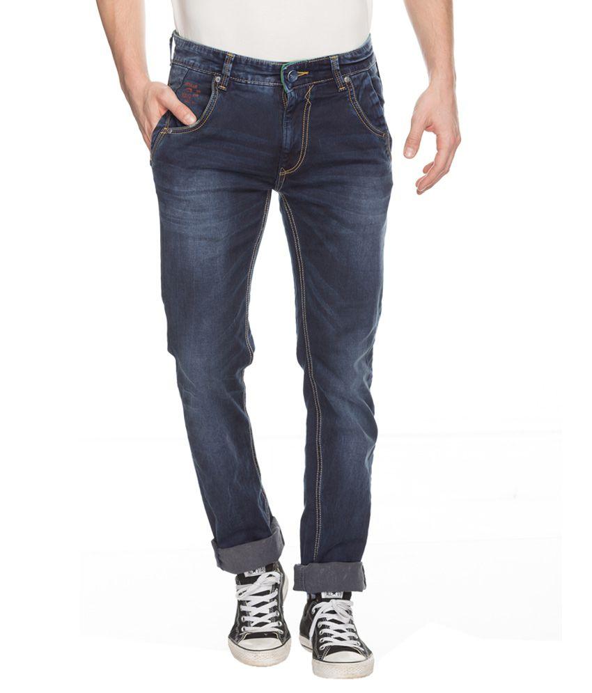 Spykar Blue Rico Slim Fit Jeans