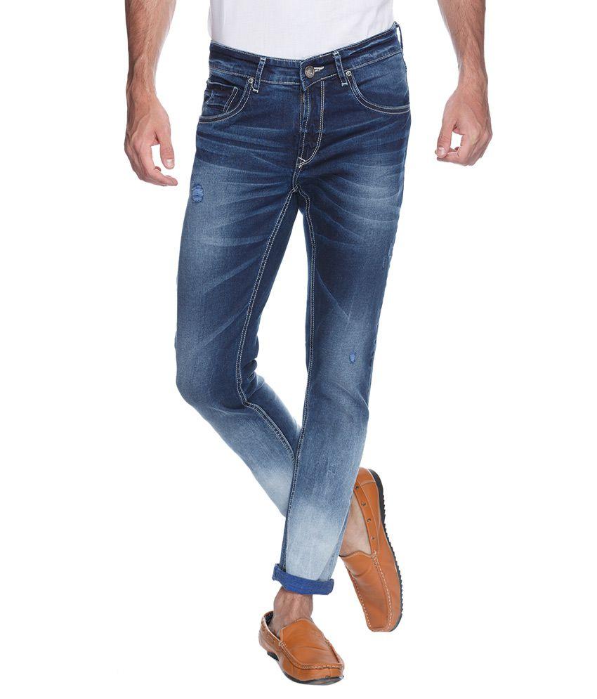 Spykar Blue Super Skinny Fit Jeans