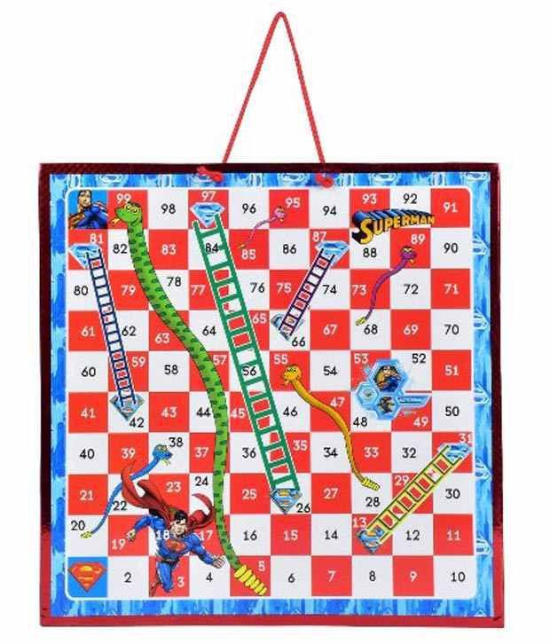 Superman Magnetic Darts Board Snake & Ladders Game - Multicolor