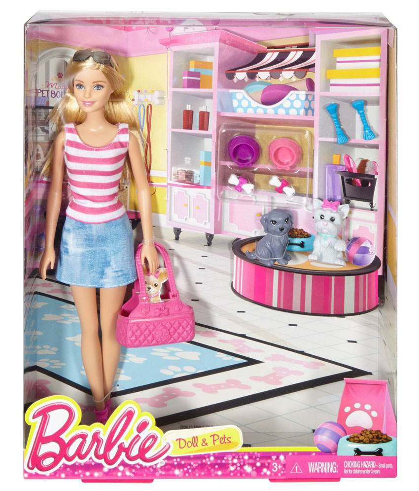 Barbie Doll   Pets. Barbie Doll   Pets Set   Buy Barbie Doll   Pets Set Online at Low