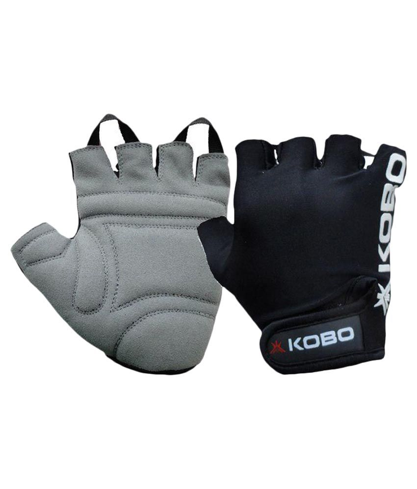 Fitness Gloves Com: Kobo Black Fitness Gloves Gym Accessories/ Gym Essentials