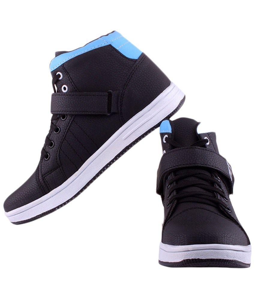 V5 Black Sneaker Shoes - Buy V5 Black Sneaker Shoes Online at Best ...