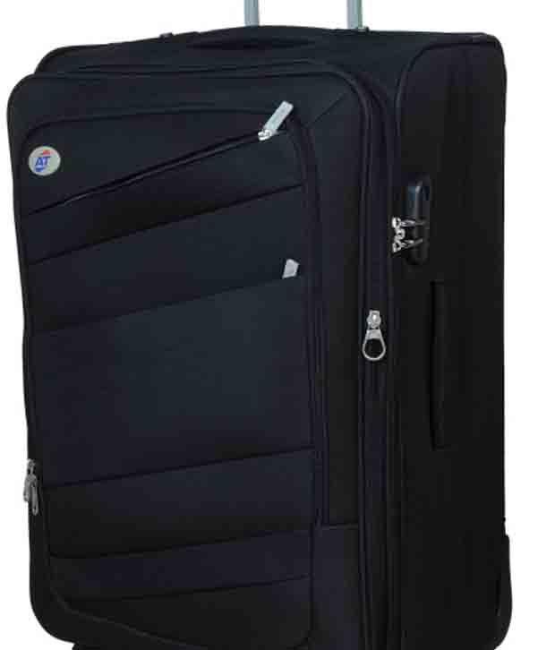 e0f38dccb ... American Tourister Medium (61cm-69cm) 4 Wheel Soft Black Luggage Trolley