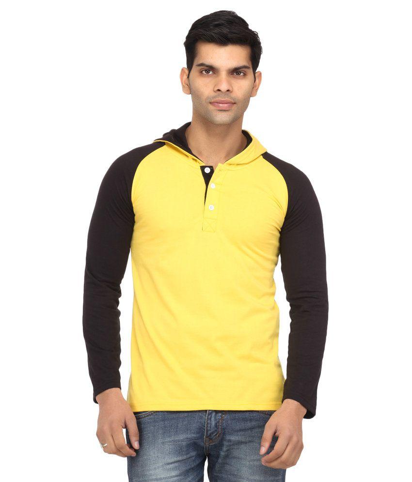 Leana Yellow Cotton T-Shirt