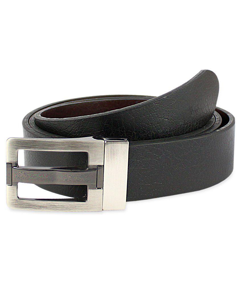 Snowfinch Black & Brown Leather Reversible Belt