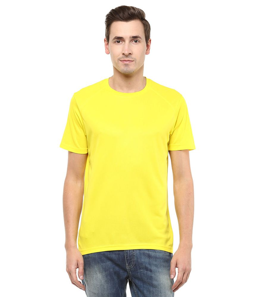 Ajile By Pantaloons YELLOW Round Neack T Shirt