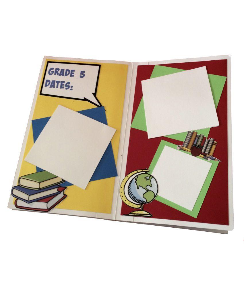 How to scrapbook school years -  Crack Of Dawn Crafts My School Years Handmade Scrapbook