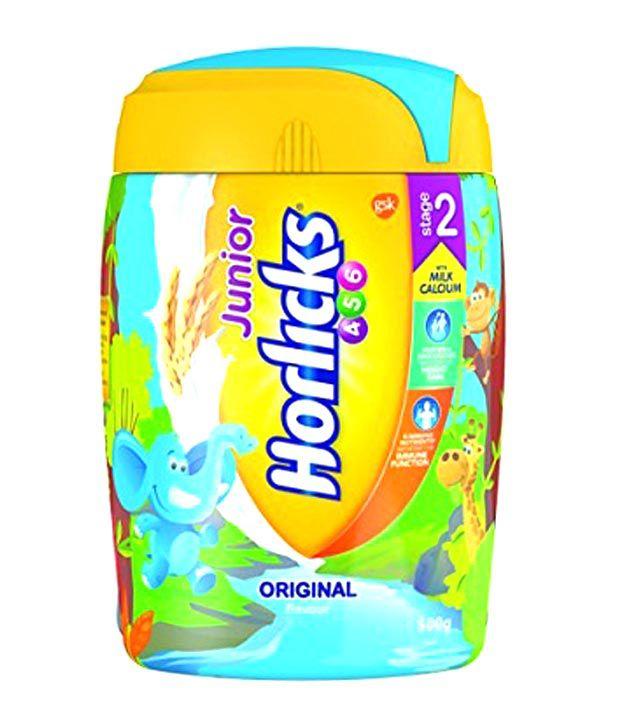 junior horlicks stage 2 health nutrition drink original flavor 500gm pet jar