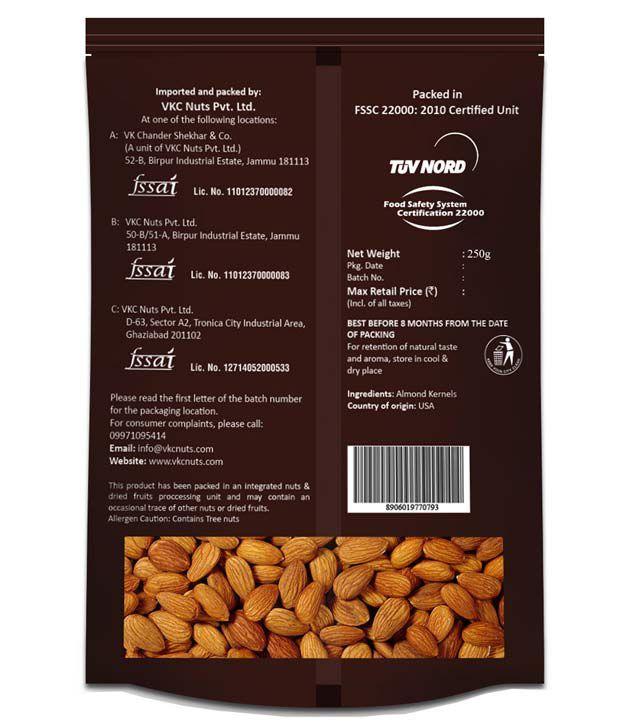Nutraj California Almonds 250 gms