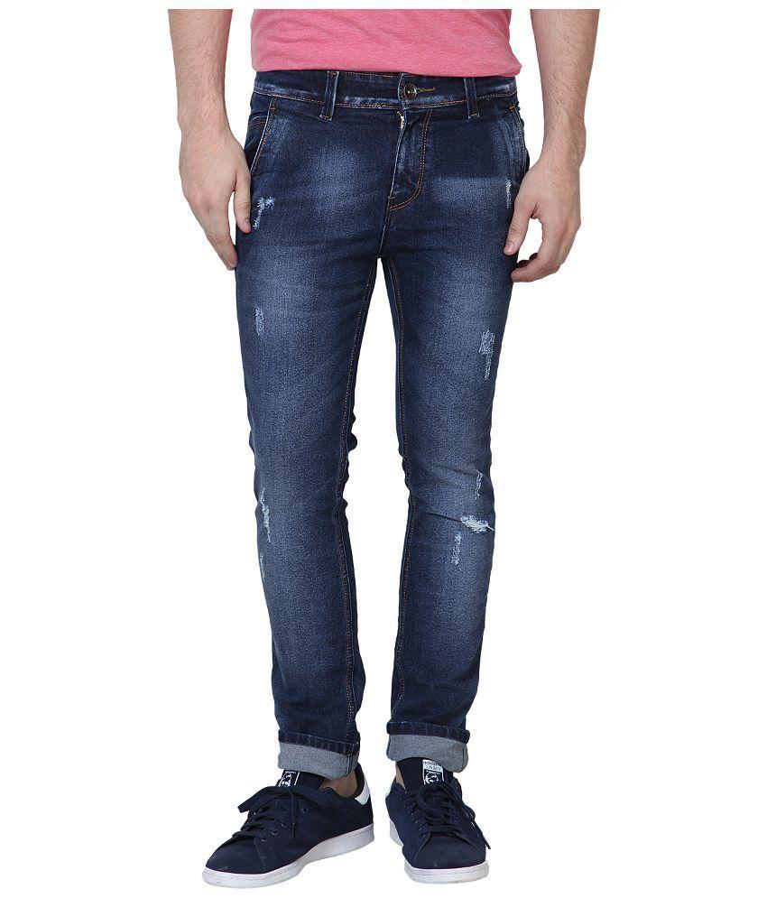 SuperX Blue Slim Fit Jeans