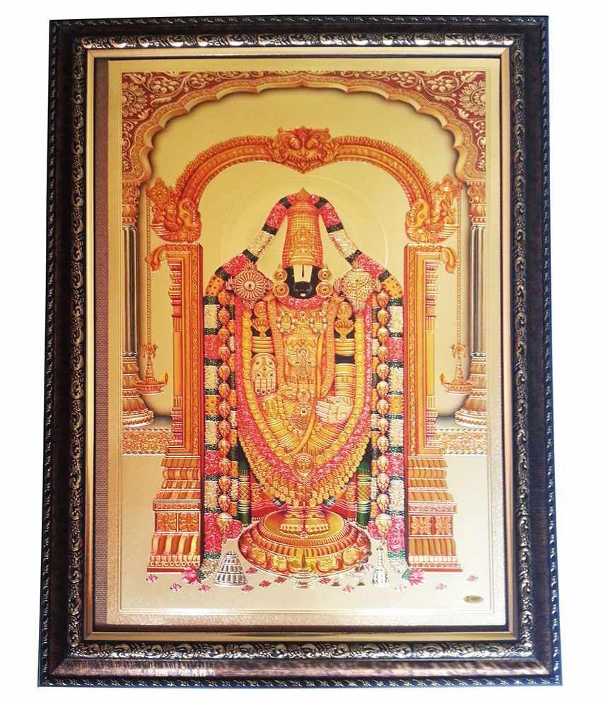 5bdb10b36a8a Gold Art 4 U Tirupati Balaji Photo Frame  Buy Gold Art 4 U Tirupati Balaji  Photo Frame at Best Price in India on Snapdeal