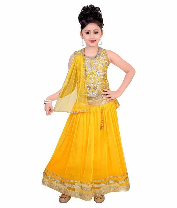 626cccb3d1 Saarah Yellow Lehenga Choli For Girls - Buy Saarah Yellow Lehenga Choli For  Girls Online at Low Price - Snapdeal