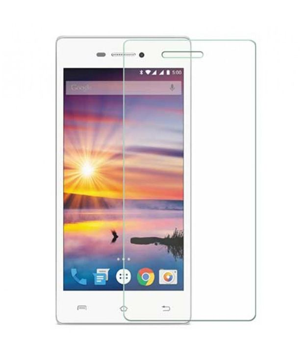 Lava iris Tempered Glass Screen Guard by SAC