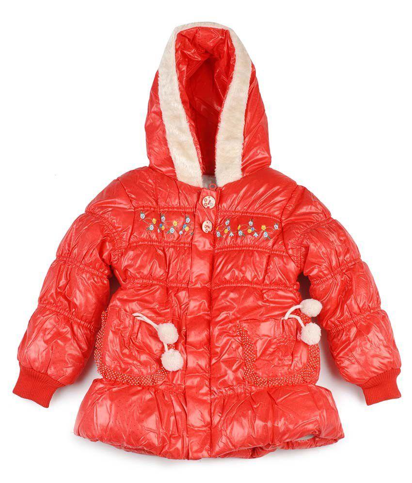 Addyvero Red Padded Jacket For Girls