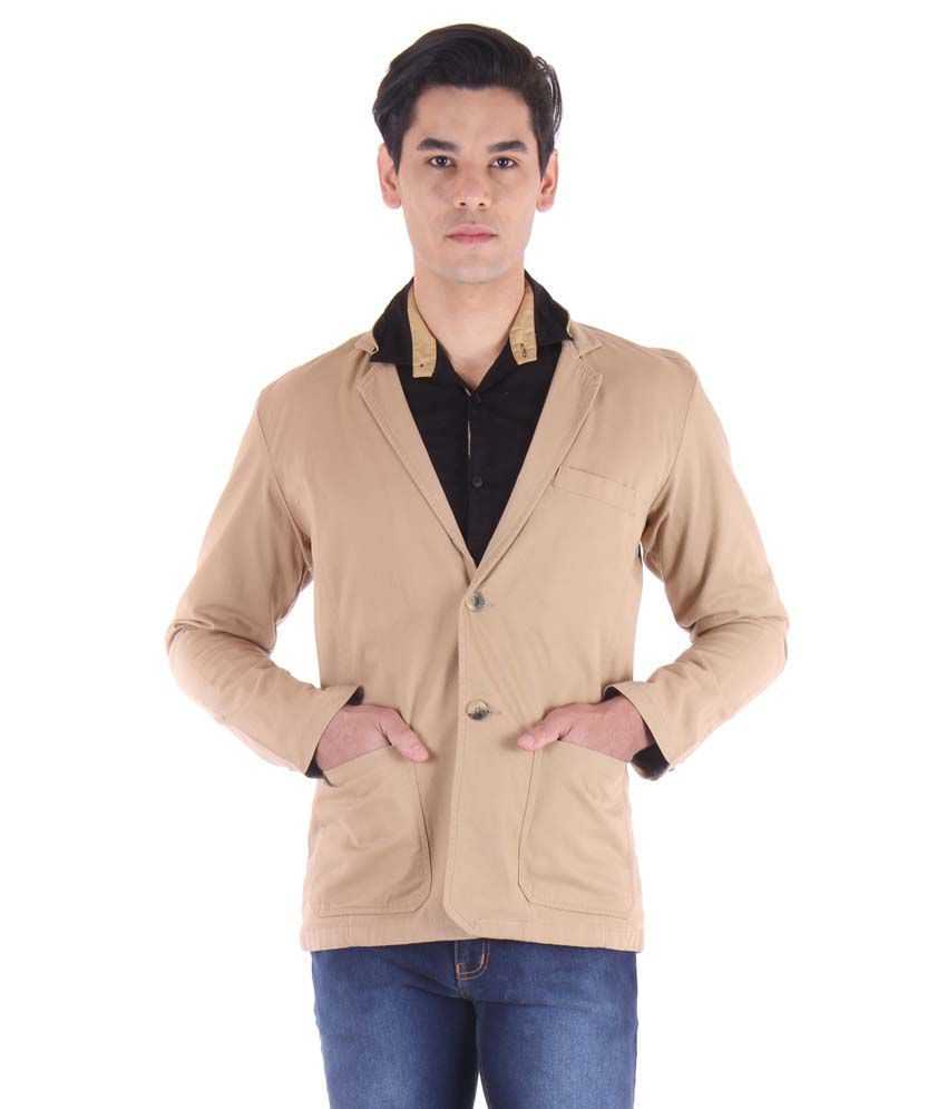 Fifty Two Khaki Casual Blazers