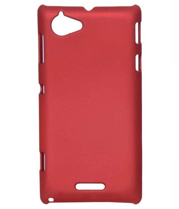 competitive price 2a8bc 6d17c KingCase Plain Back Cover Case For Sony Xperia L C2104 - Red